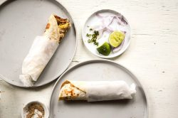 Leftover-chicken rolls