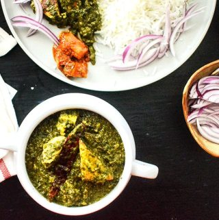 Best Indian paneer palak recipe or saag paneer recipe