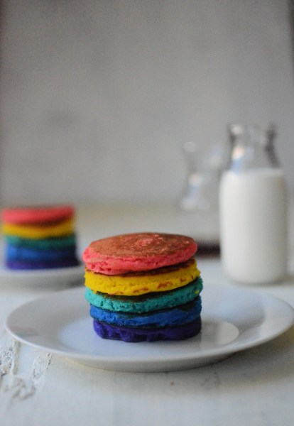 Rainbow pancakes for special pride month recipe