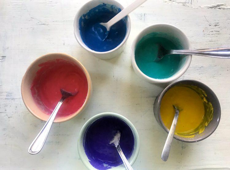 How to make rainbow pancake batter