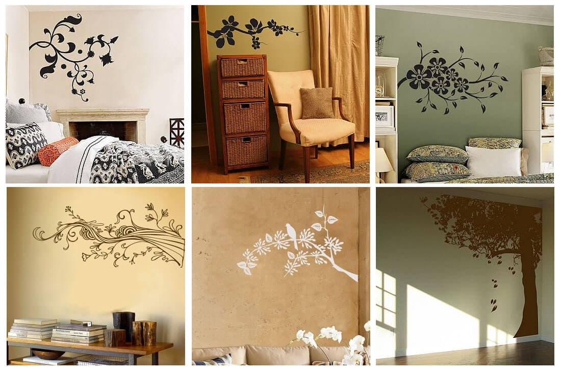 Desain Dinding Dengan Sticker Tema Sederhana  Nota Furniture