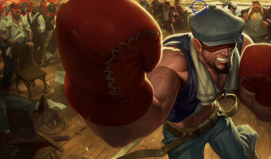 Easter eggs behind League of Legends splash arts that you might have missed. 4