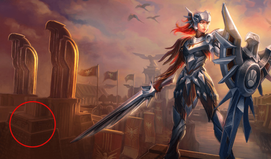 Easter eggs behind League of Legends splash arts that you might have missed. 7