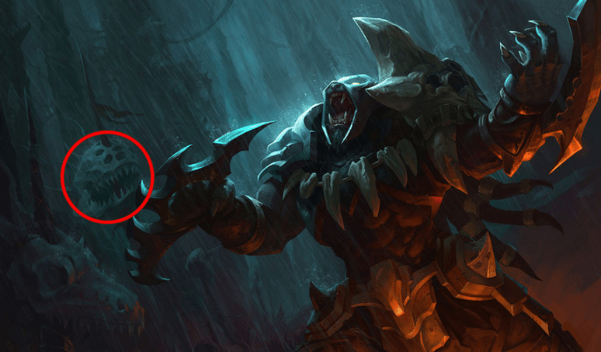 Easter eggs behind League of Legends splash arts that you might have missed. 11