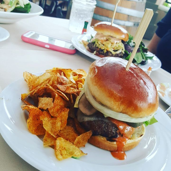 Lunch is here. Im on a burger kick. Check out my Youtube channel for the past two burgers. Monster burgers. This is more refined. http//notagrouch.com/youtube/ #burgertime #burger #temecula #wilsoncreek