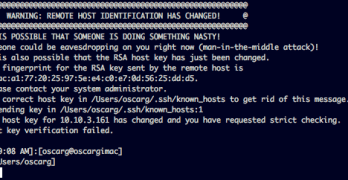 SSH Remote Host Identification has changed.