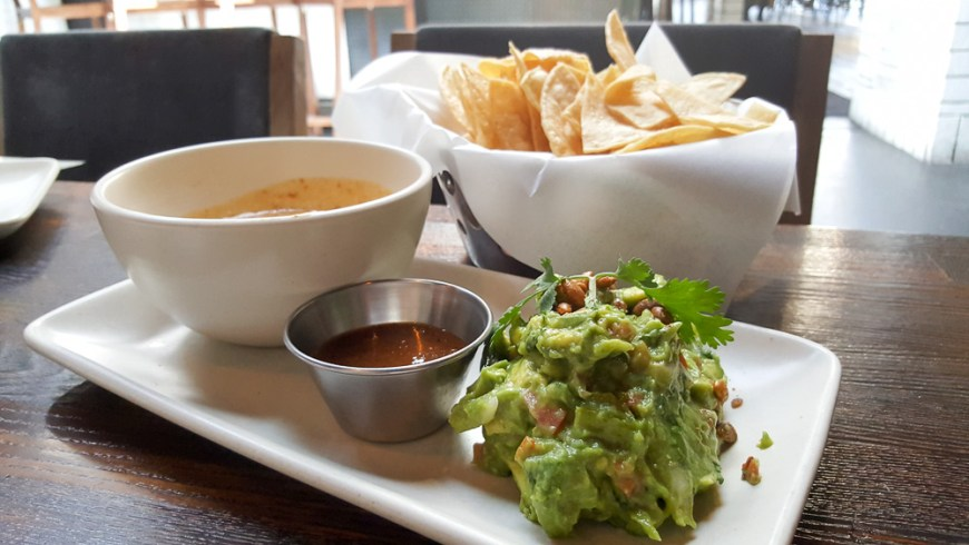 Choriqueso & guacamole combo. The chips stole the show.