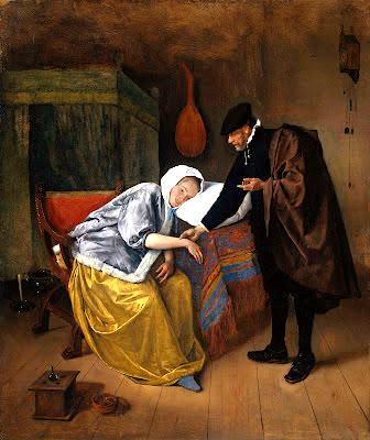 steen, jan sick woman 1665