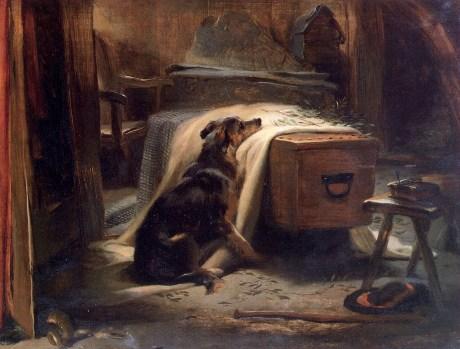 """Old Shepherd's Chief Mourner"" -by  Edwin Landseer"