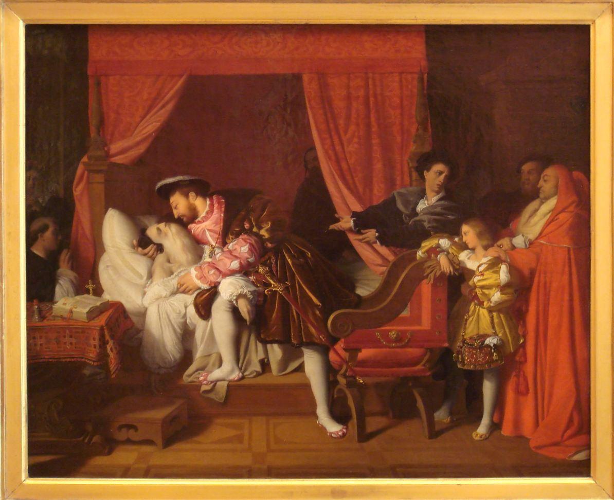Francois I recoit les derniers soupirs