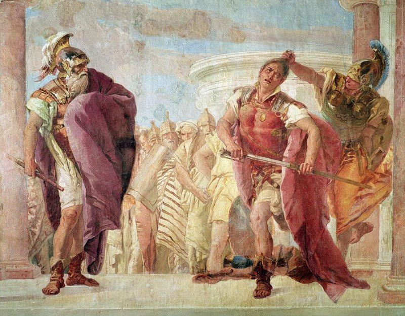 Minerva Preventing Achilles from Killing Agamemnon