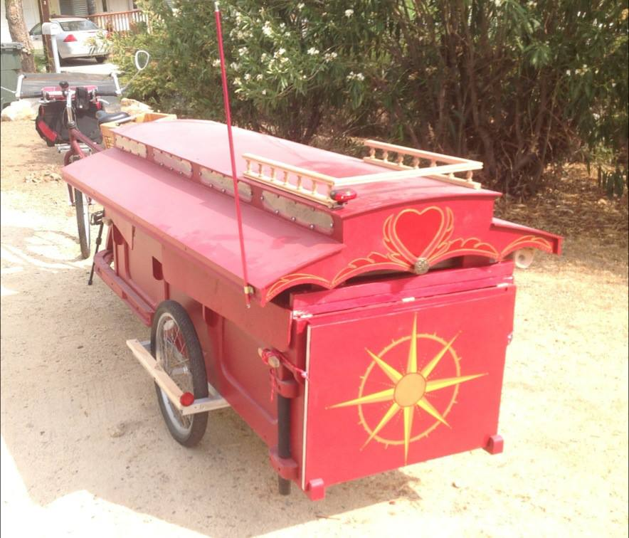 Mobile Camper Bicycle Trailer For The Homeless Postcards