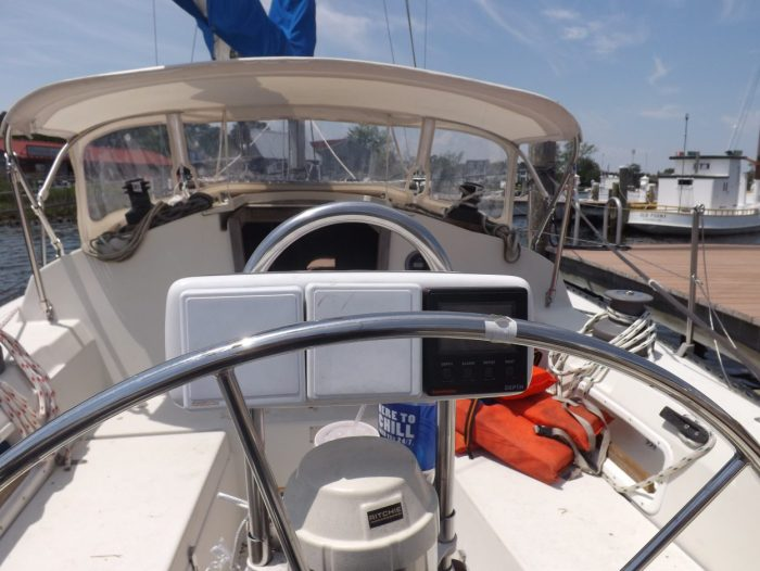 Cockpit of the C&C 36 Sailboat