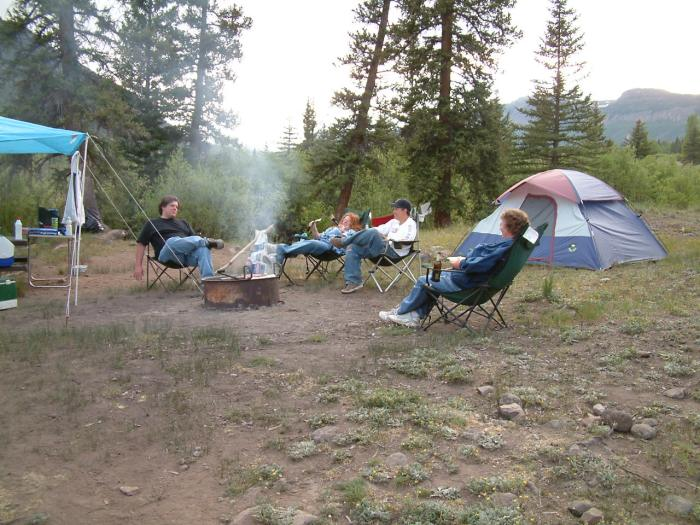 Camping with Family and Friends in Colorado
