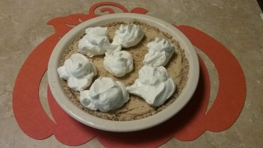 Peanut Butter & Ricotta Cheese Pie with Almond Butter Crust