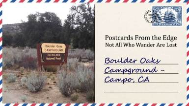 Boulder Oaks Campground - Campo, CA