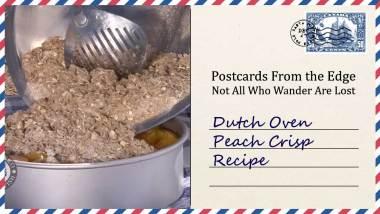 Dutch Oven Peach Crisp