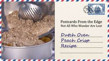 Dutch Oven Peach Crisp