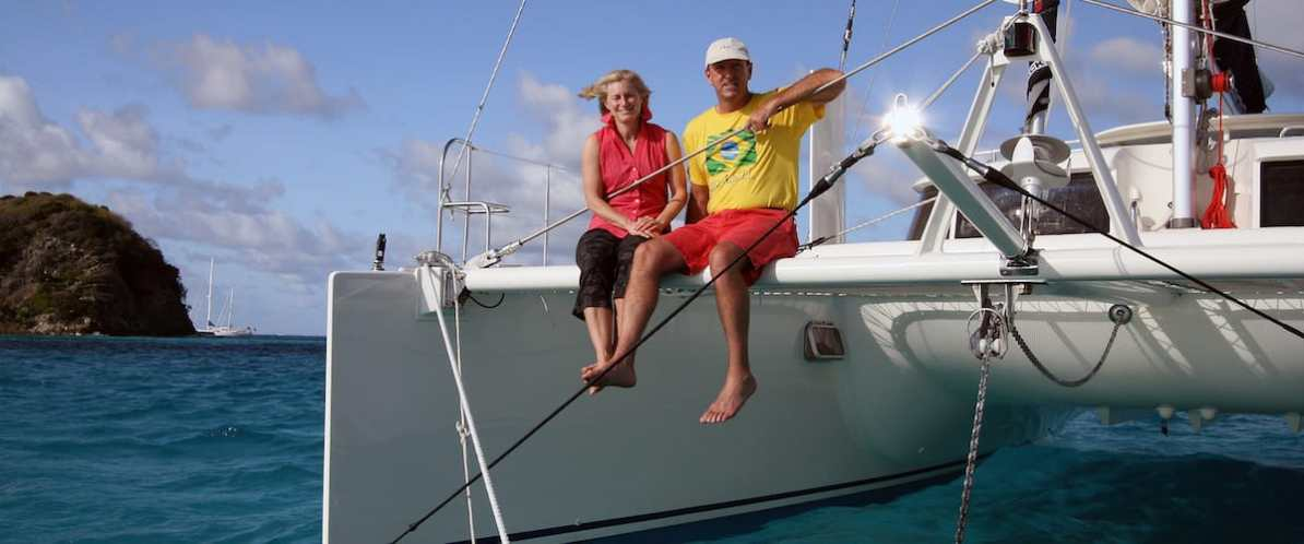 Tom & Harriet Linskey, Founders of Hands Across the Sea, Sailing in the Caribbean