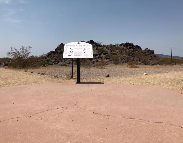 Painted Rock Petroglyph Site Information Placard