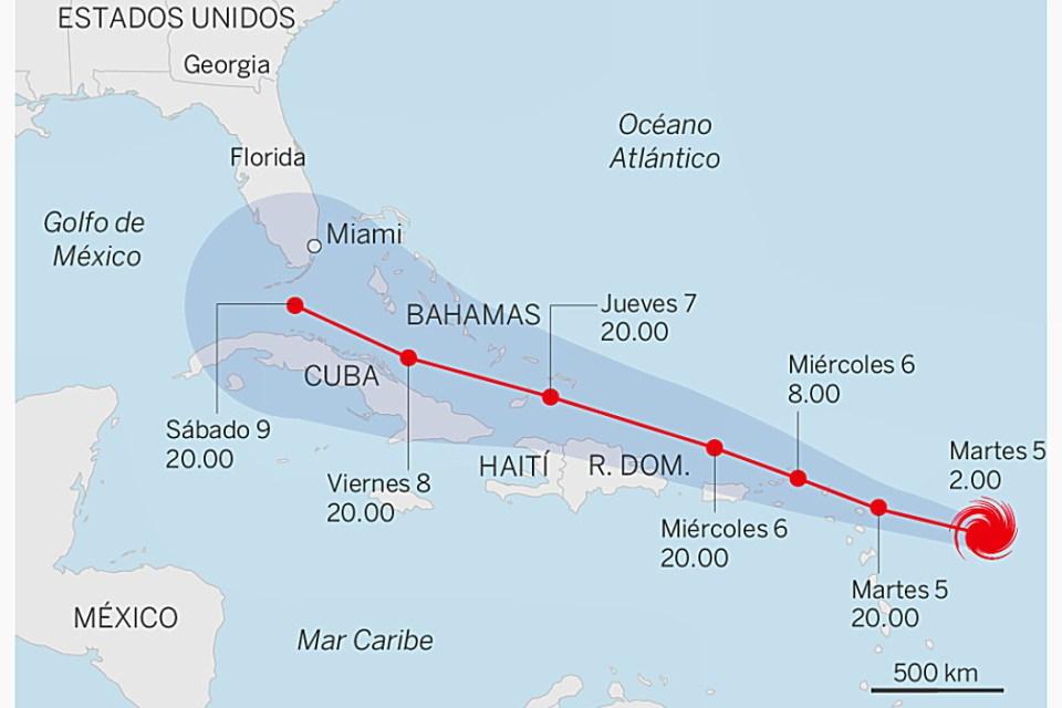Categoría 5 el huracán Irma