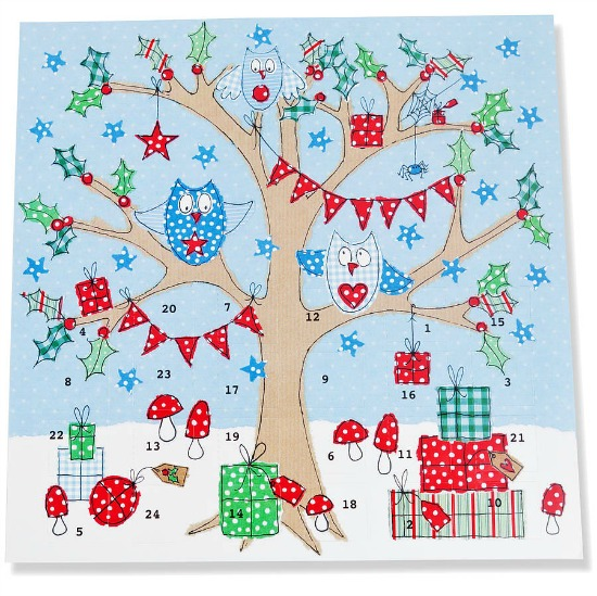 chocolate free paper advent calendar