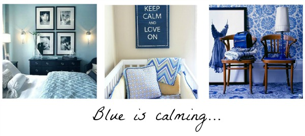 blue room, calming, Pinterest