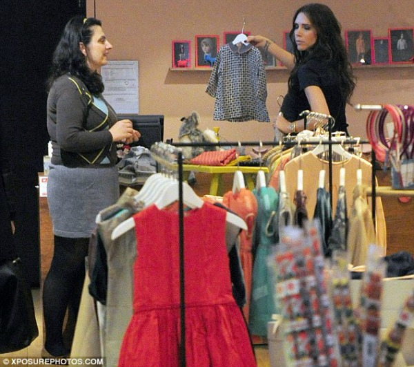 Victoria Beckham clothes shopping in Caramel, London