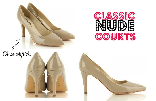Nude court shoes from Daniel Footwear, UK