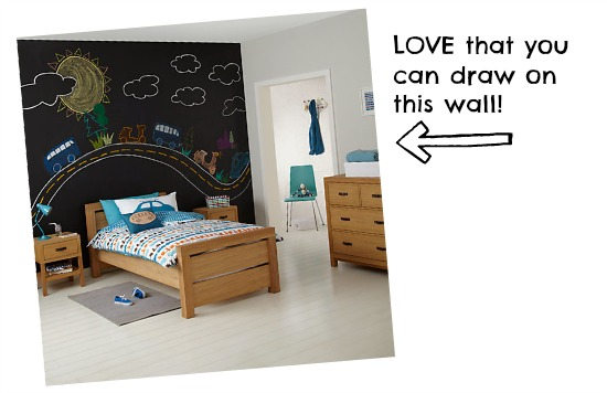 Cool John Lewis kids' room where you can write on walls