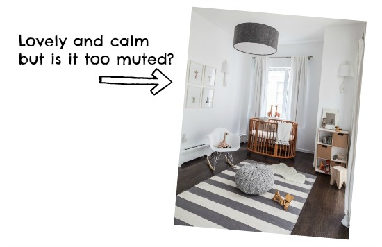 Grey and calm nursery decor