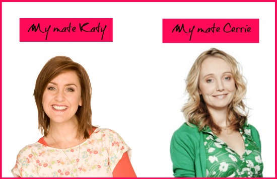 Katy Ashworth and Cerrie Burnett from CBeebies
