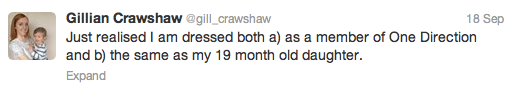 Gillian Crawshaw tweet