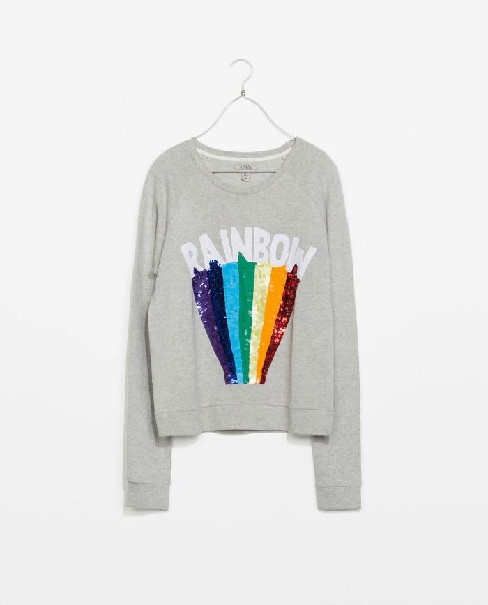 Zara rainbow sweatshirt