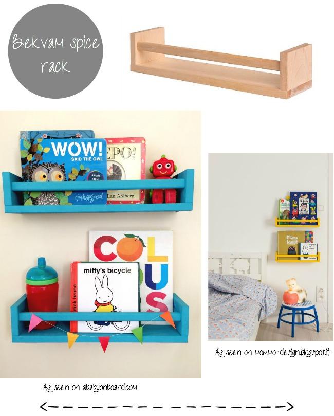 IKEA Bekvam spice rack as a book case