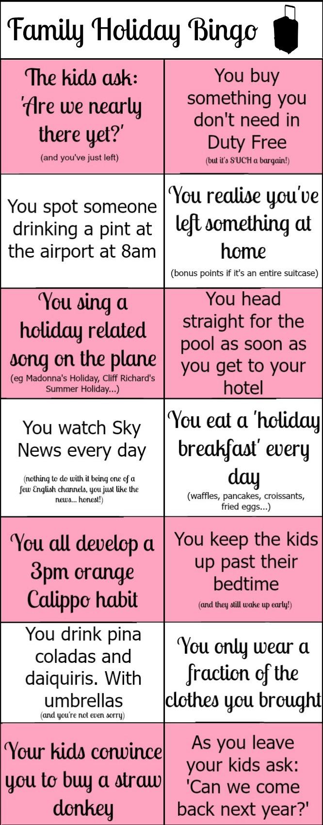 Play Family Holiday Bingo!