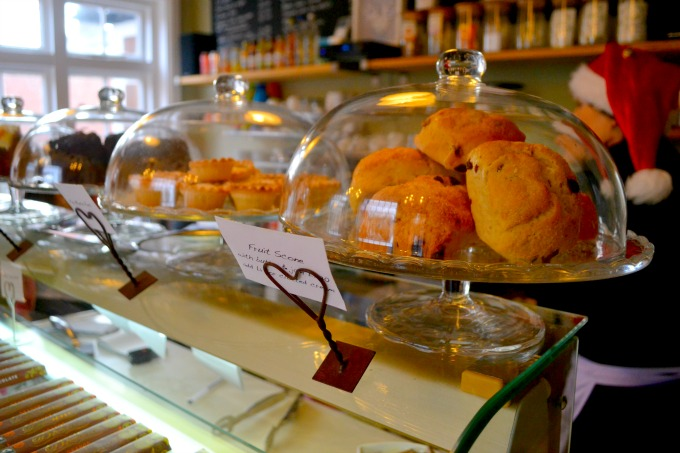 Scones and cakes for sale at The Lavender House, Bromley