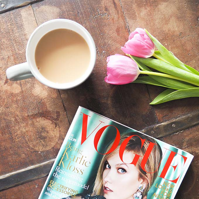 tea break with magazine