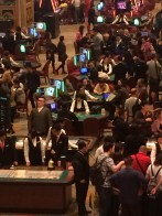 Casino heaving with gamblers at The Parisian