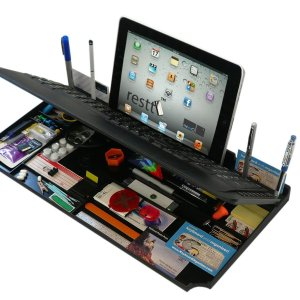 Bluetooth 6 in 1 Keyboard and Organizer with Tablet Stand - 1
