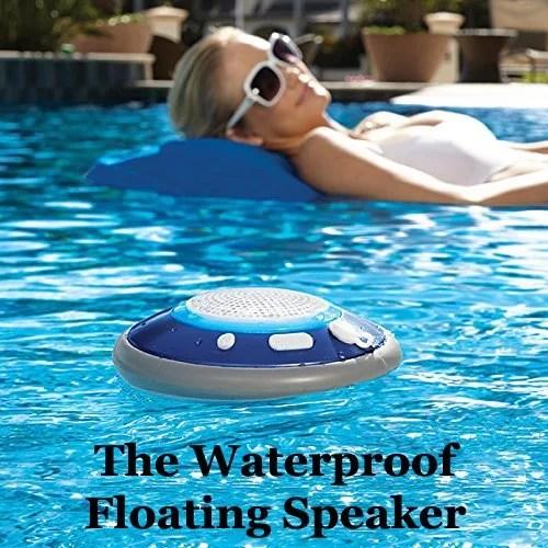 fun unique bluetooth speakers.  Floating Waterproof Bluetooth Speaker