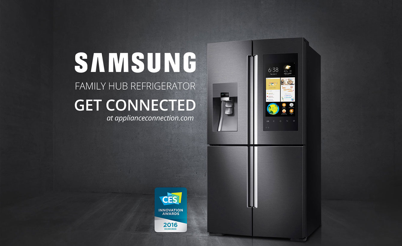 samsung family hub refrigerator. Black Bedroom Furniture Sets. Home Design Ideas