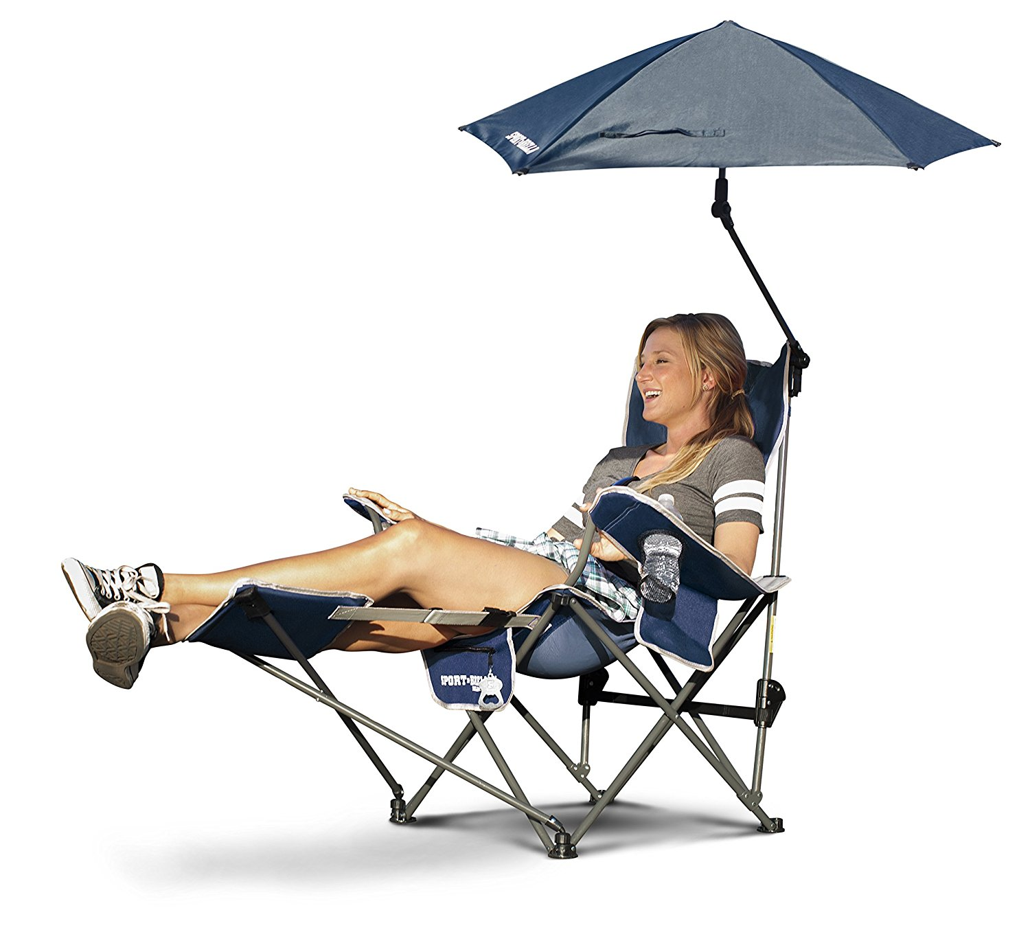 Sport Brella Recliner Chair Sport Brella Reclining Camping Chair With Attached