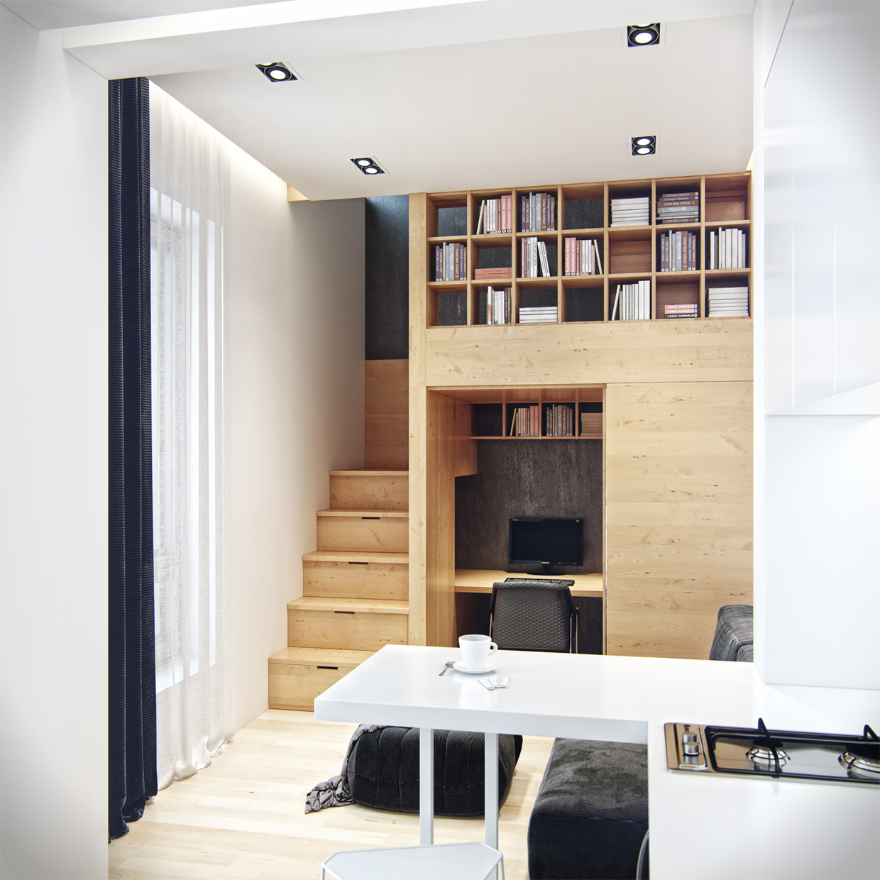 Tiny Loft Space Apartment  Your No1 source of Architecture and Interior design news