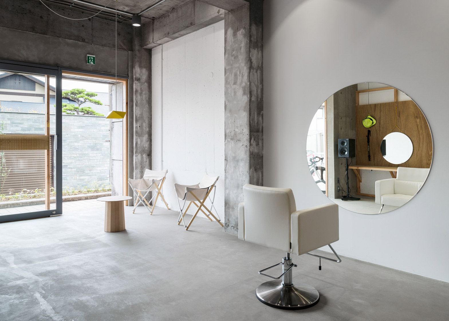 A Minimal Hair Salon That Accommodates Only One Client At
