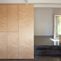 Kitchen Makeover On A Budget Cork Flooring Birch Plywood Was Used To This Limited Renovation ...