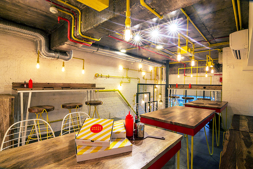 Industrial Style Was Used To Design This Pizza Restaurant