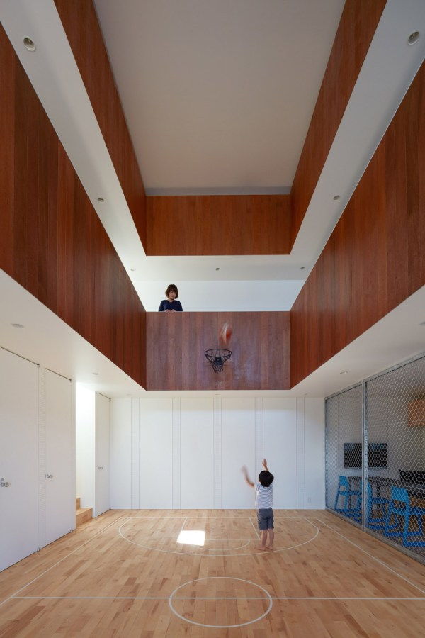 House with Indoor Basketball Court