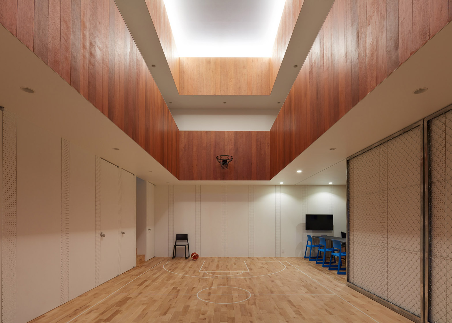 A House In Japan Has An Indoor Basketball Court