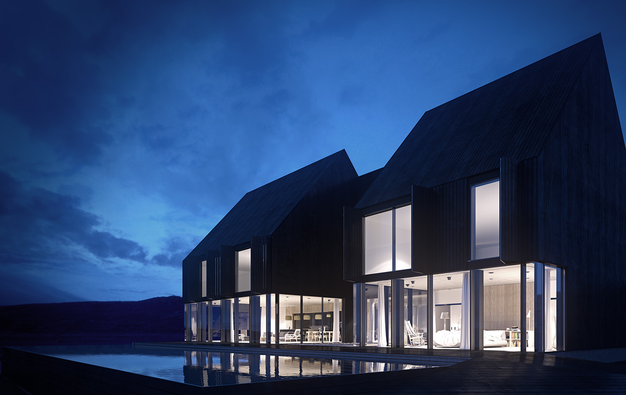 kitchen simulator ventilation options minimal architecture on a solitary iceland landscape ...
